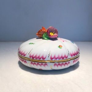 Herend Floral Covered Dish